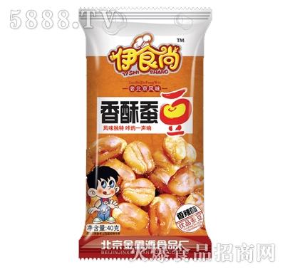 伊时尚40克香酥蚕豆香辣味