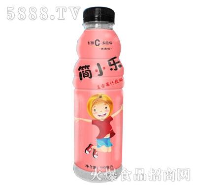 简小乐复合果汁饮料500ml蜜桃味