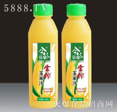 今谷生榨玉米汁450ml