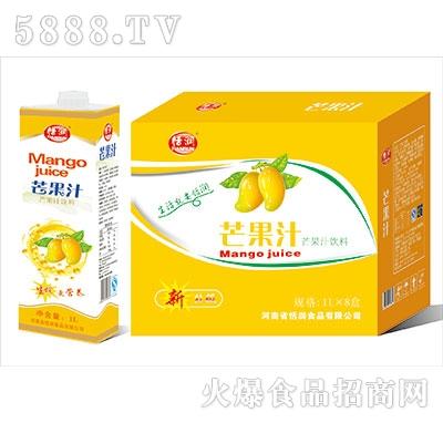 恬润芒果汁饮料1Lx8盒