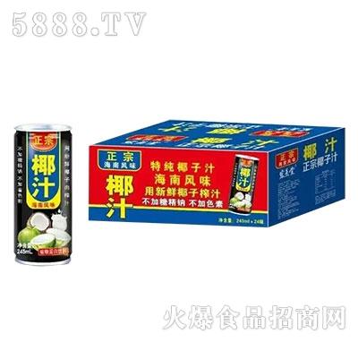 正宗海南风味椰子汁240mlx24罐