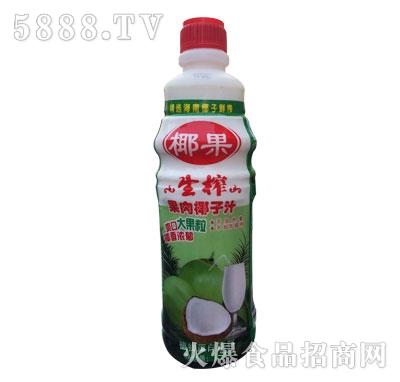 椰果生榨果肉椰子汁植物蛋白饮料1.25L