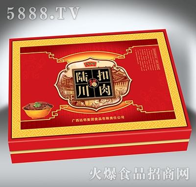 陆川猪黄金扣肉罐头礼盒-5x340克