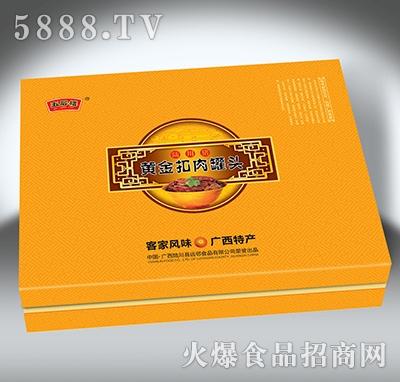 陆川猪黄金扣肉罐头礼盒3x340克