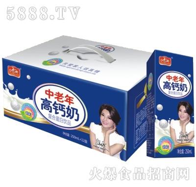 250mlx12罐口香传中老年高钙奶