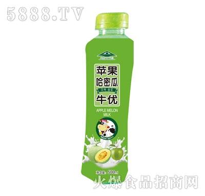 牛优苹果哈密瓜果汁乳味饮料500ml