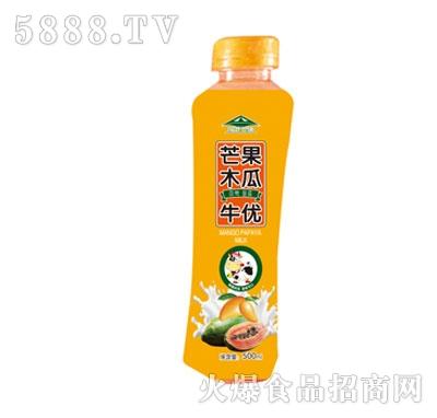 牛优芒果木瓜果汁乳味饮料500ml