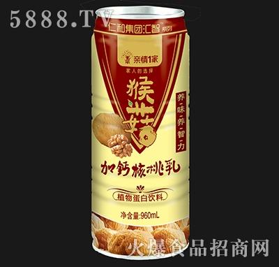 亲情1家猴菇加钙核桃乳960ml