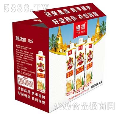 1Lx6瓶银树芦荟苹果汁