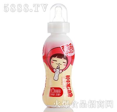 饮料代理酷我营养多儿童成长型乳饮料奶嘴饮料200ml 草莓味