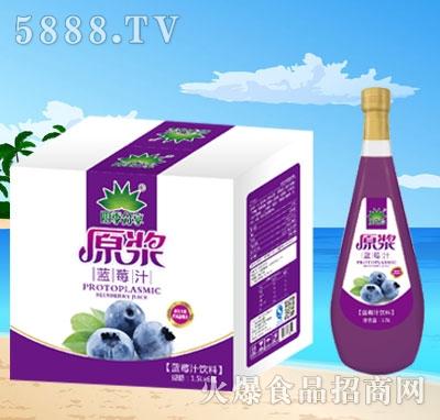 四季分享原浆蓝莓汁1.5Lx6