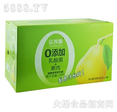 京智源0添加乳酸菌+果肉梨汁960mlx6罐