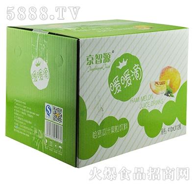 京智源玻璃杯哈密瓜果粒(暖套)410mlx12瓶