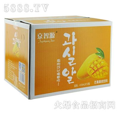 京智源玻璃杯芒果果肉(光瓶)410mlx12瓶