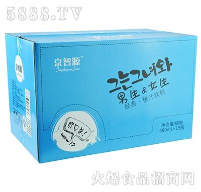 京智源男生女生桃汁480mlx15瓶