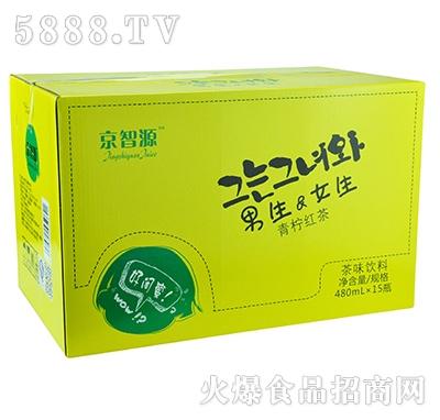 京智源男生女生青柠红茶480mlx15瓶