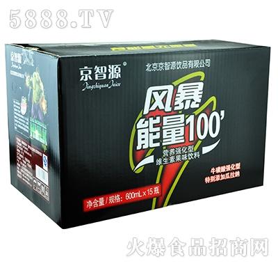 京智源风暴能量营养强化型维生素果味饮料600mlx15瓶
