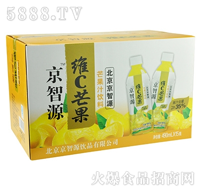 京智源维C芒果汁(圆瓶)490mlx15瓶