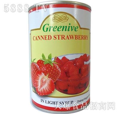 绿盛草莓罐头罐装