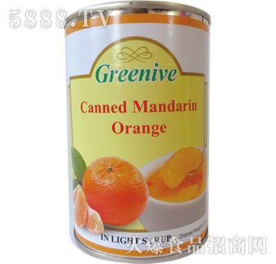 绿盛橘子罐头罐装