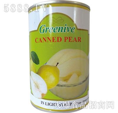 绿盛梨子罐头罐装