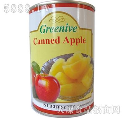 绿盛苹果罐头罐装