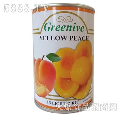 绿盛桃子罐头罐装