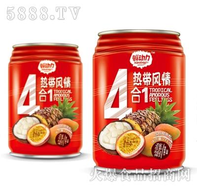 鲜动力4合1热带风情混合果汁245ml