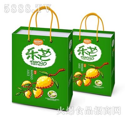 鲜动力乐芒果汁饮料手提袋