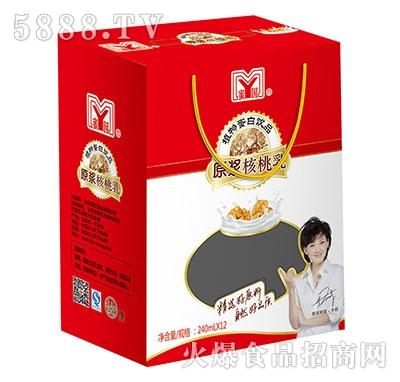 240mlx12罐蜜园原浆核桃乳
