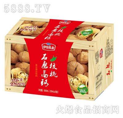 伊怡乳业石磨核桃(木纹)复合蛋白饮料250mlx20盒