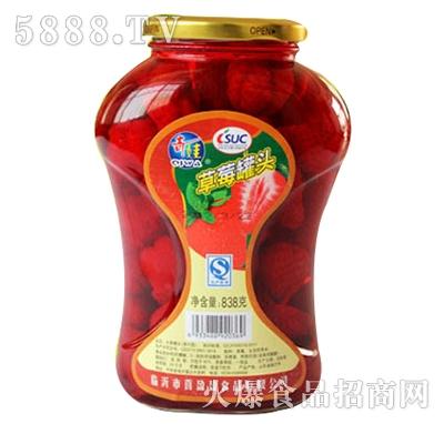 奇娃果园草莓罐头838g