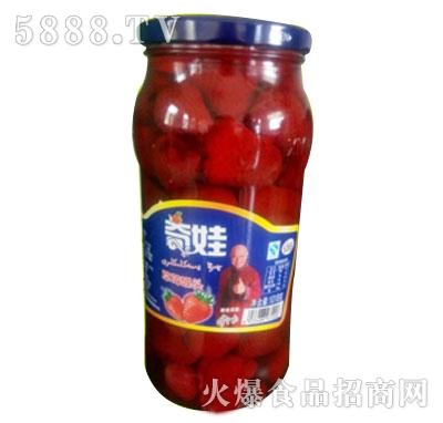 奇娃果园草莓罐头1018g