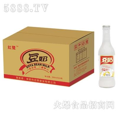 易拉盖红鹭豆奶260mlx24