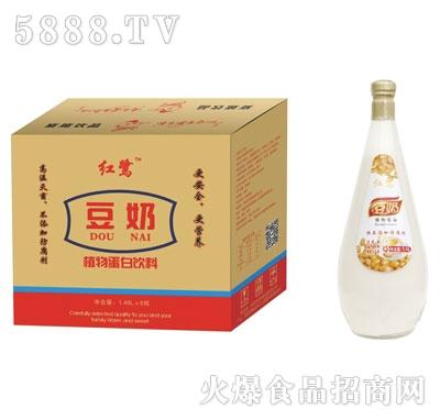 红鹭豆奶1.48Lx6