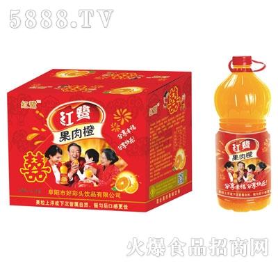 红鹭果肉橙2.5Lx6