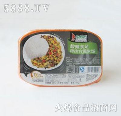 得益绿色酸辣食足自热方便米饭