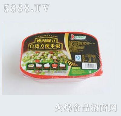 得益绿色瘦肉豌豆自热方便米饭