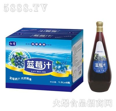 红鹭蓝莓汁1.5Lx6
