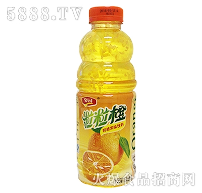 600ml豪园粒粒橙果味饮料