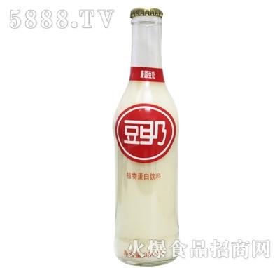 330ml豪园豆奶植物蛋白饮料(玻璃瓶)产品图