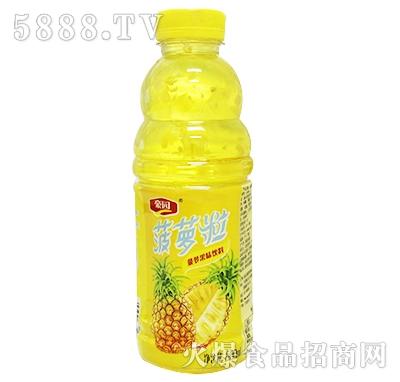 600ml豪园菠萝粒果味饮料