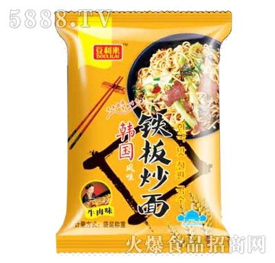 豆利来韩国风味铁板炒面牛肉味散称