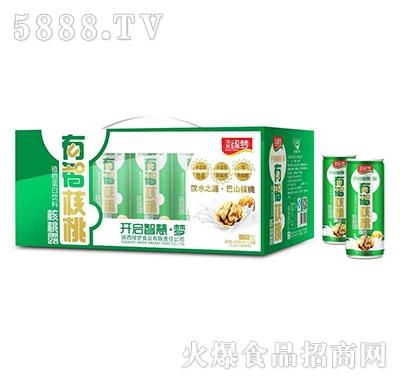 汉水绿梦有智核桃核桃露240mlx12罐绿色包装-无糖型