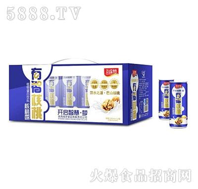汉水绿梦有智核桃核桃露240mlx12罐蓝色包装