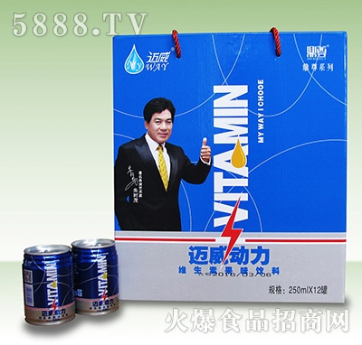 迈威动力维生素果味饮料250mlx12罐
