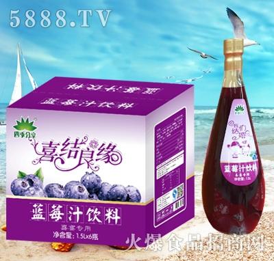 四季分享蓝莓汁饮料1.5Lx6
