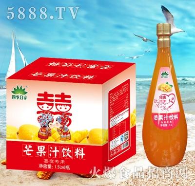 四季分享芒果汁饮料1.5Lx6