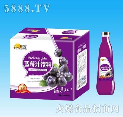 靓淼蓝莓汁饮料838mlx8瓶