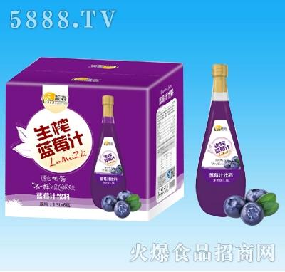 靓淼生榨蓝莓汁饮料1.5Lx6瓶